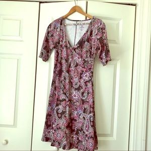 PrAna Paisley Faux Wrap Dress